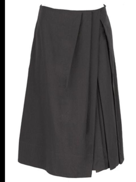 <p>Grey skirt, £111, by Comptoir des Cotonniers (0207 792 9580)</p>