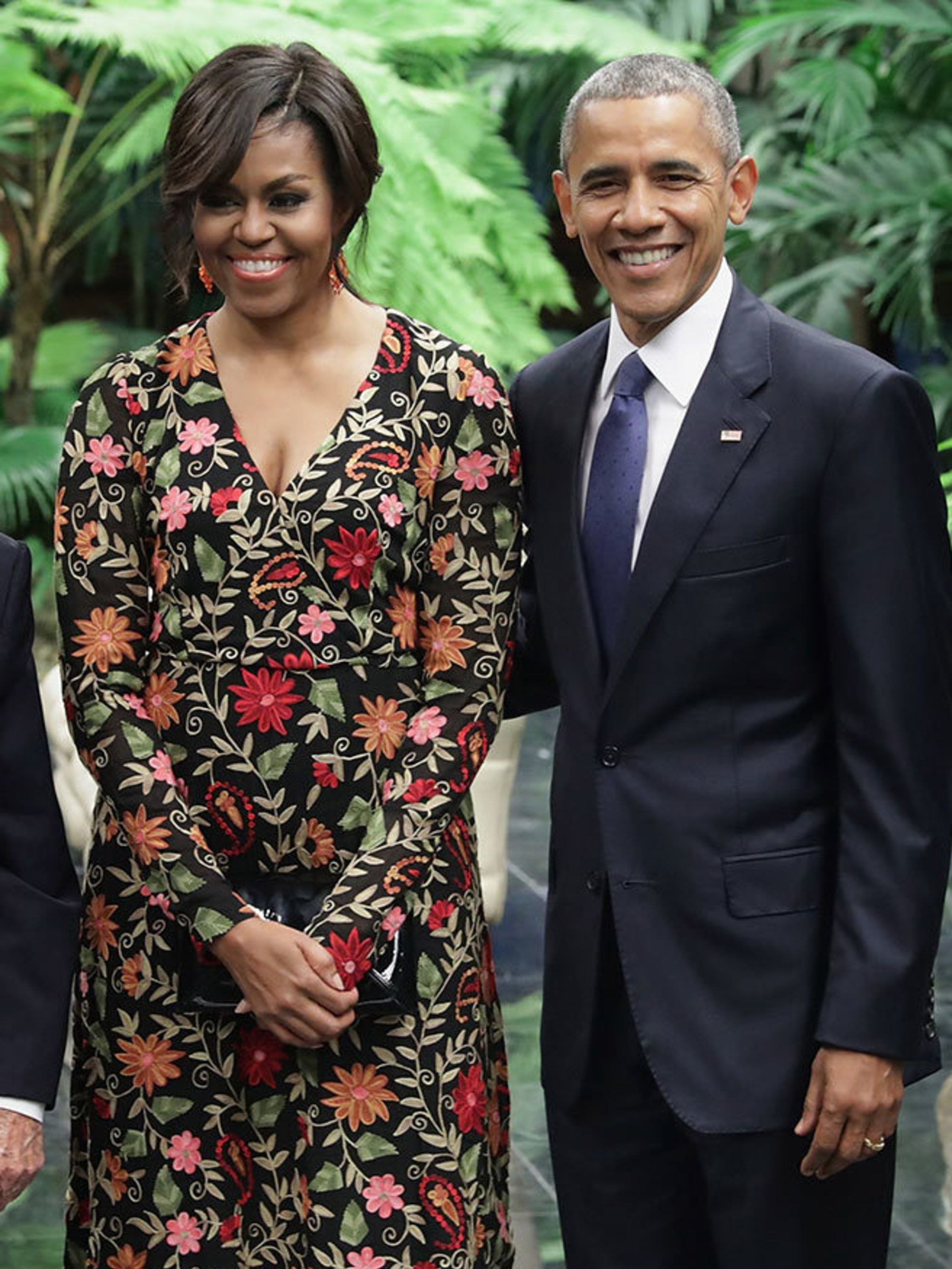 aeaf35647 Michelle Obama's Best Looks: From Naeem Khan Gown To Carolina Herrera Shift  Dresses