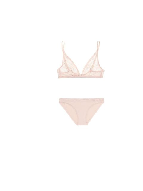 """<p>This Calvin Klein lingerie is a sheer delight, bra £34 and briefs, £25, at <a href=""""http://www.net-a-porter.com/product/344324"""">Net-a-Porter</a></p>"""