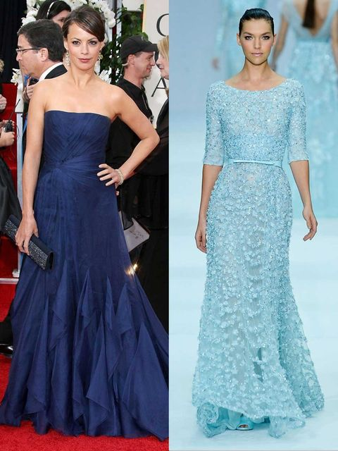 <p>The Artist's Berenice Bejo in Gucci at the Golden Globes&#x3B; an Elie Saab couture gown.</p>