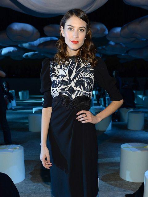 <p>Alexa Chung at Marc Jacobs, Autumn Winter 2014 Mercedes-Benz Fashion Week, New York.</p>