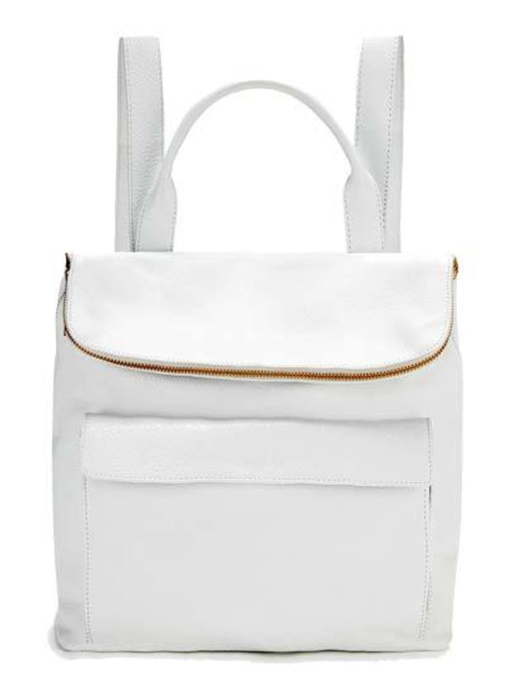 "<p>The future's bright white..</p><p>White Leather Backpack £275 from<a href=""http://www.whistles.co.uk/fcp/categorylist/dept/accessories-bags?resetFilters=true""> Whistles </a></p>"