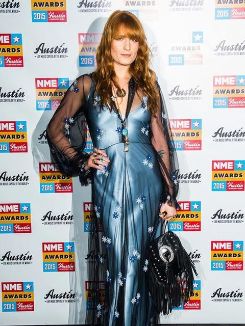 Florence Welch at the NME Awards at Brixton Academy, February 2015