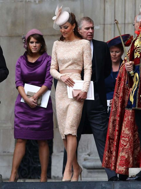 <p>Kate in McQueen on Tuesday 5 June</p>