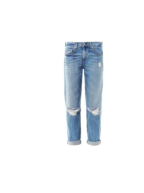 """<p>Rag & Bone's 'Moss' distressed jeans are the perfect partner to a boyfriend tee and single strap heels, £215, at <a href=""""http://www.matchesfashion.com/product/160952"""">Matches Fashion</a></p>"""