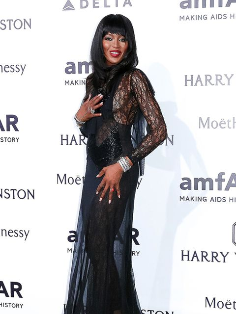 Naomie Campbell attends the amfAR Milano gala, Milan, September 2015.
