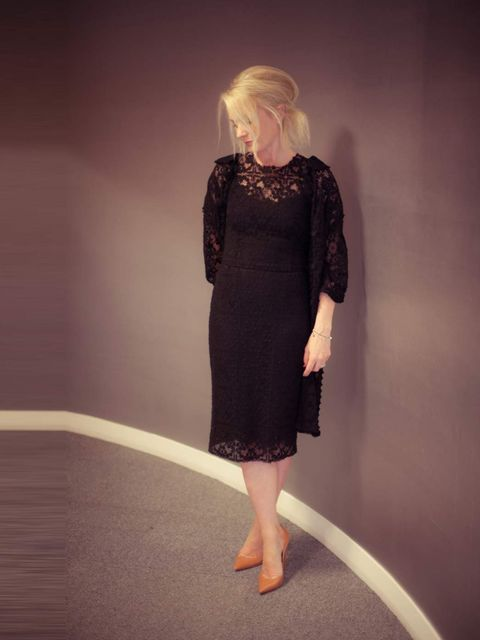 <p>Lorraine Candy - Editor-In-ChiefDolce &amp; Gabbana coat and dress, Giuseppe Zanotti shoes, Christopher Kane clutch.</p>