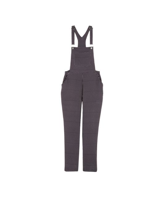 "<p>Since popping up at Moschino and 3.1 Phillip Lim, dungarees are back. And these are by far the best on the high street… <a href=""http://www.urbanoutfitters.co.uk/page/home/"">Urban Outfitters</a> spot print dungarees, £65</p>"