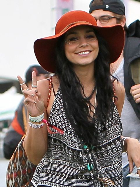 "<p>Vanessa Hudgens at the 2012 <a href=""http://www.elleuk.com/style/street-style/coachella-street-style-2013"">Coachella</a> Valley Music and Arts Festival.</p>"
