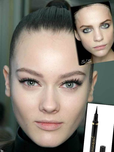 <p>Soft, smudgy lines are great for hazy summer days but this AW demands something a little more polished. Black liquid liner is a make-up bag staple and one that'll add a flash of glamour to any look. For inspiration look to D&amp;G and Emanuel Ungaro wh