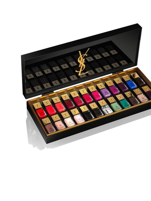 """<p><a href=""""http://www.yslbeauty.co.uk/"""">YSL</a> La Laque Couture Collection, £395</p><p>The ultimate present for a <a href=""""http://www.elleuk.com/beauty/make-up-skin/make-up-features/we-bring-to-you-our-edit-of-the-50-hottest-a-w-nail-shades-this-season"""""""