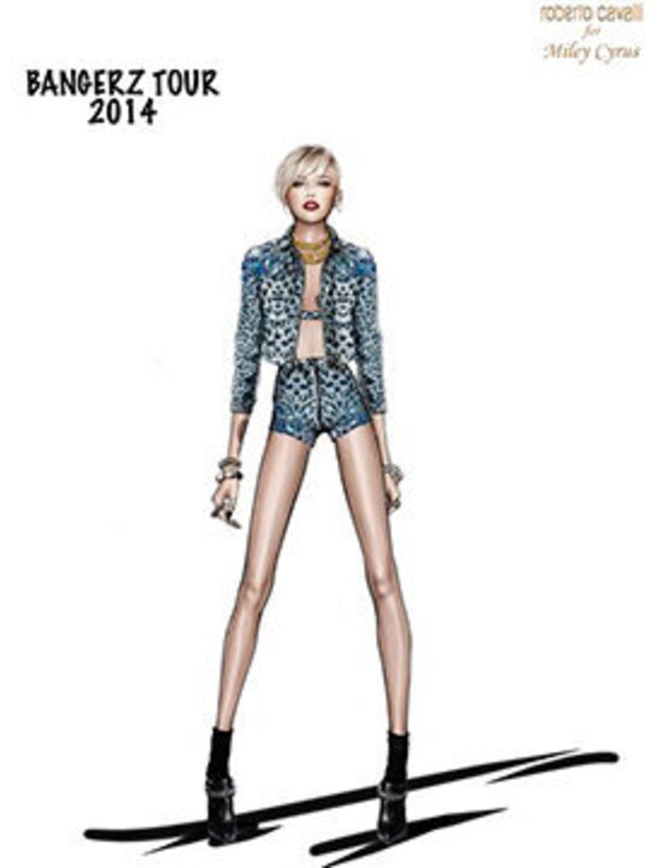 <p>Roberto Cavalli for Miley Cyrus</p>