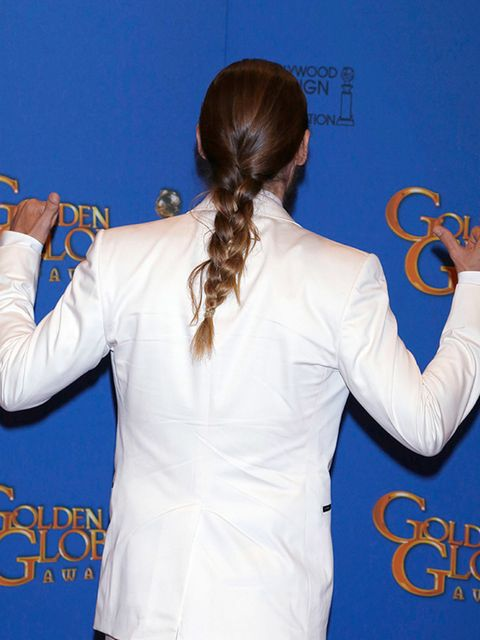 "<p>The only guy to make it into our edit is, of course, <a href=""http://www.elleuk.com/fashion/celebrity-style/golden-globes-2015-red-carpet-dresses"">Jared Leto</a> with his man-plait. </p>"