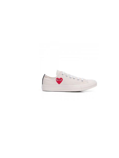 "<p>A pair of white converse sneakers is a staple for laid-back style - very off-duty Fashion Editor, especially with this Comme des Garçons print!</p><p>Comme des Garçons Play Converse, £80 at <a href=""http://shop.doverstreetmarket.com/comme-des-garcons/p"