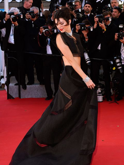 <p>Kendall Jenner wears Alaïa at the Youth premiere during the Cannes Film Festival, May 2015.</p>