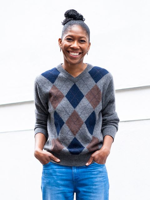 Kenya Hunt, Acting Content Director  Giasone jumper