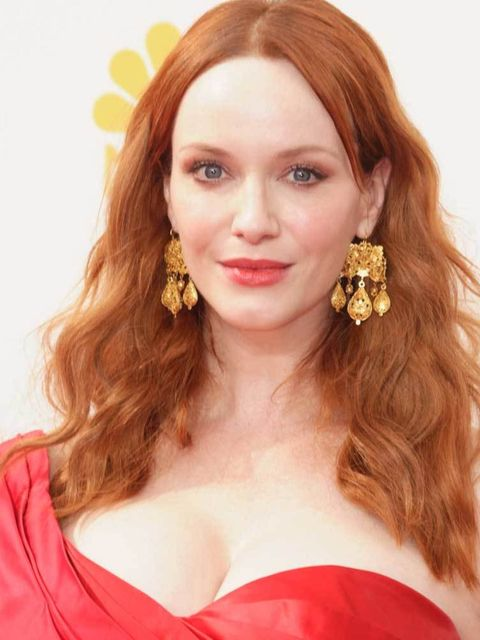 "<p>Foolproof red head equation according to <a href=""http://www.elleuk.com/fashion/celebrity-style/christina-hendricks"">Christina</a>: match hair to dress to lips for ultimate glow.</p>"