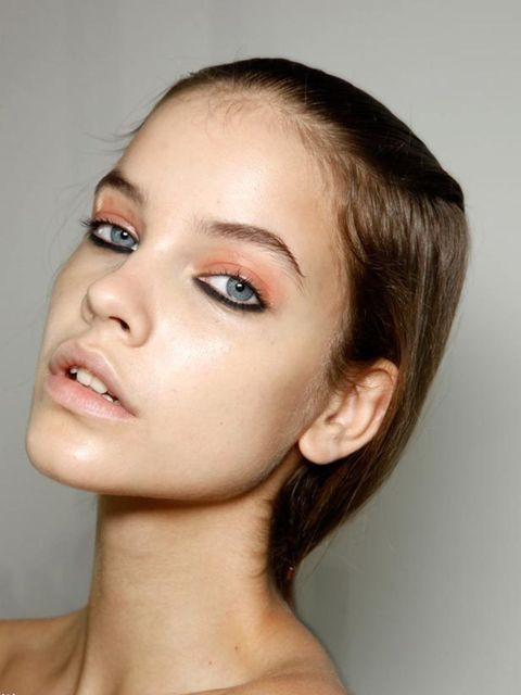 <p>Skin is hyper-real, super dewy perfection for spring/summer. Where make-up artists saved time on omitting mascara, lipstick and blusher from looks, they devoted it to buffing, glossing and generally beautifying models' skin. Andrew Gallimore at Holly F