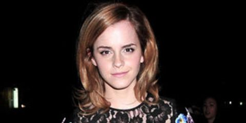 <p></p><p>Last night Emma Watson was spotted wearing a leather dress with floral embroidery by Christopher Kane that she must have snatched as it came off the runway. She's the second star to step out this week wearing picks from our dream next season war