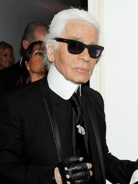 <p>Karl Lagerfeld at the Selfridges launch event</p>