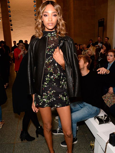 Jourdan Dunn attends the Topshop Unique show during the AW16 LFW, February 2016.