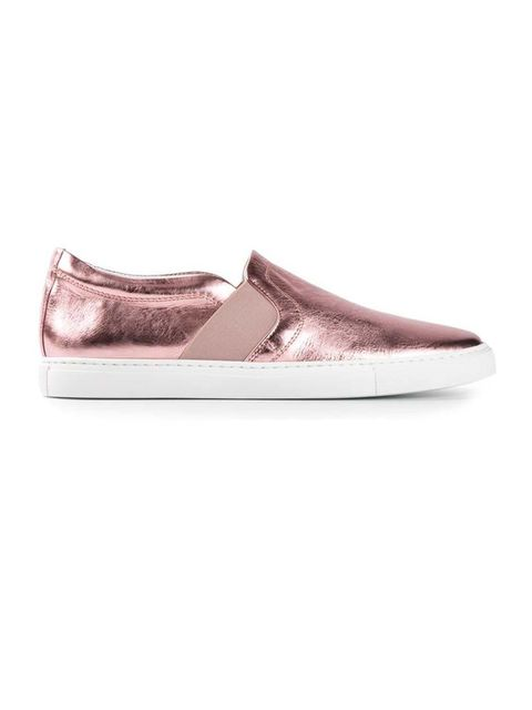 "<p>Lanvin slip-on trainers, £336.72, at <a href=""http://www.farfetch.com/uk/shopping/women/lanvin-slip-on-trainers-item-10654226.aspx?gclid=CLLl7rKH5r0CFUoJwwodBGAA9g&country=215"">Farfetch.com</a></p>"