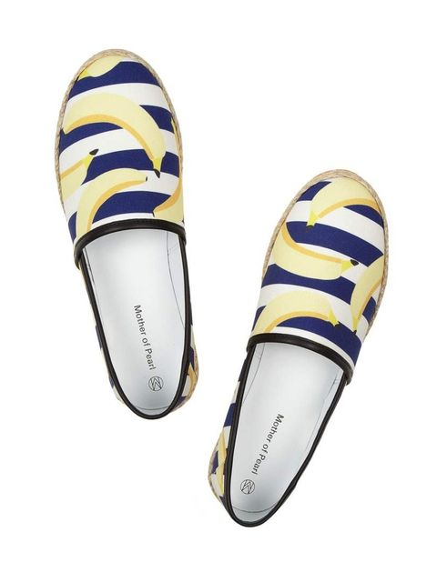 "<p>Go bananas. </p><p>Mother of Pearl espadrilles, £195 at <a href=""http://www.net-a-porter.com/product/432921/Mother_of_Pearl/lagan-banana-print-canvas-espadrilles"">Net-A-Porter</a></p>"