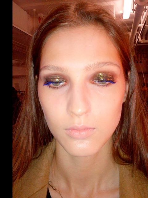 "<p>Ahh, the <a href=""http://www.elleuk.com/beauty/beauty-notes-daily/fashion-week-s-future-pt-2"">Antipodium</a> glossy metallic eye; The London Fashion Week cornerstone to every face-flattering look. The bronze shade is universally beautiful, the gloss ma"