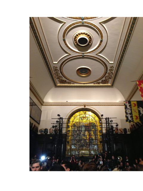 <p>The amazing venue for the Giles show</p>