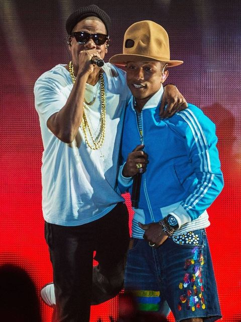 <p>Jay Z joins Pharrell Williams on stage at Coachella Festival 2014, weekend 2.</p>