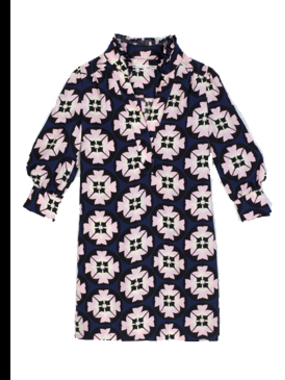 <p>Silk jersey dress, £264, by Diane Von Furstenburg, for stockists call (0207 499 0886)</p>