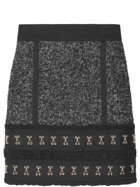 <p>Tweed skirt, £365, by Luella (0207 518 1830)</p>