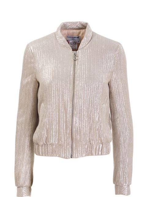 "<p>Shimmer zip jacket, £959, by Charles Anastase at <a href=""http://www.farfetch.com/shopping/women/search/schid-636861726c657320616e617374617365/items.aspx"">Farfetch</a> </p>"