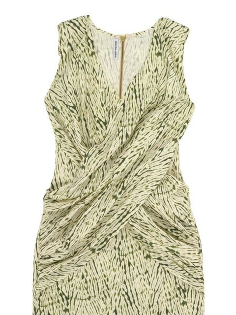 <p>Green print dress, £195, by Carin Wester at Urban Outfitters (0203 219 1944)</p>