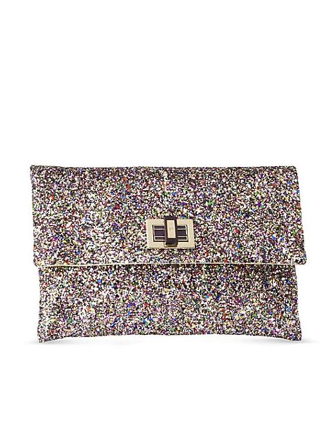 "<p>Multi-coloured sequin clutch, £250, by <a href=""http://www.anyahindmarch.com/cat/Clutch_Bags/876/"">Anya Hindmarch </a></p>"