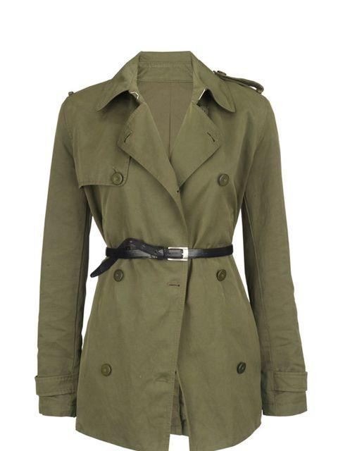 <p>Belted khaki coat, £365, by Joseph (0207 610 8441) </p>