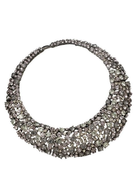 <p>Rhinestone collar necklace, £65, by Warehouse (0845 122 2251)</p>