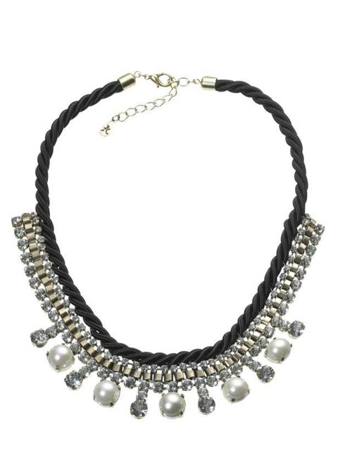 "<p>Rhinestone and pearl necklace, £16, by <a href=""http://www.monsoon.co.uk/invt/58266608"">Accessorize</a></p>"