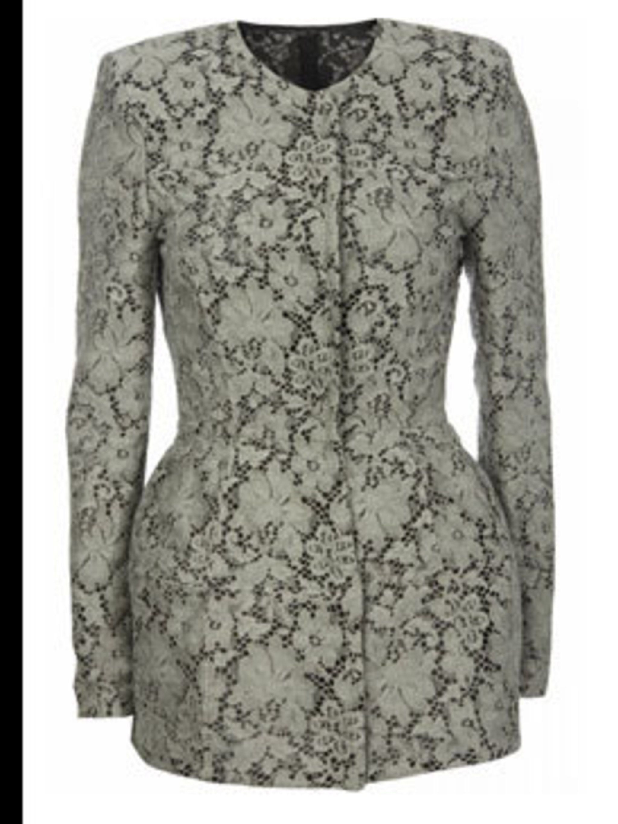 <p>Lace jacket, £125, by Topshop (0845 121 4519)</p>