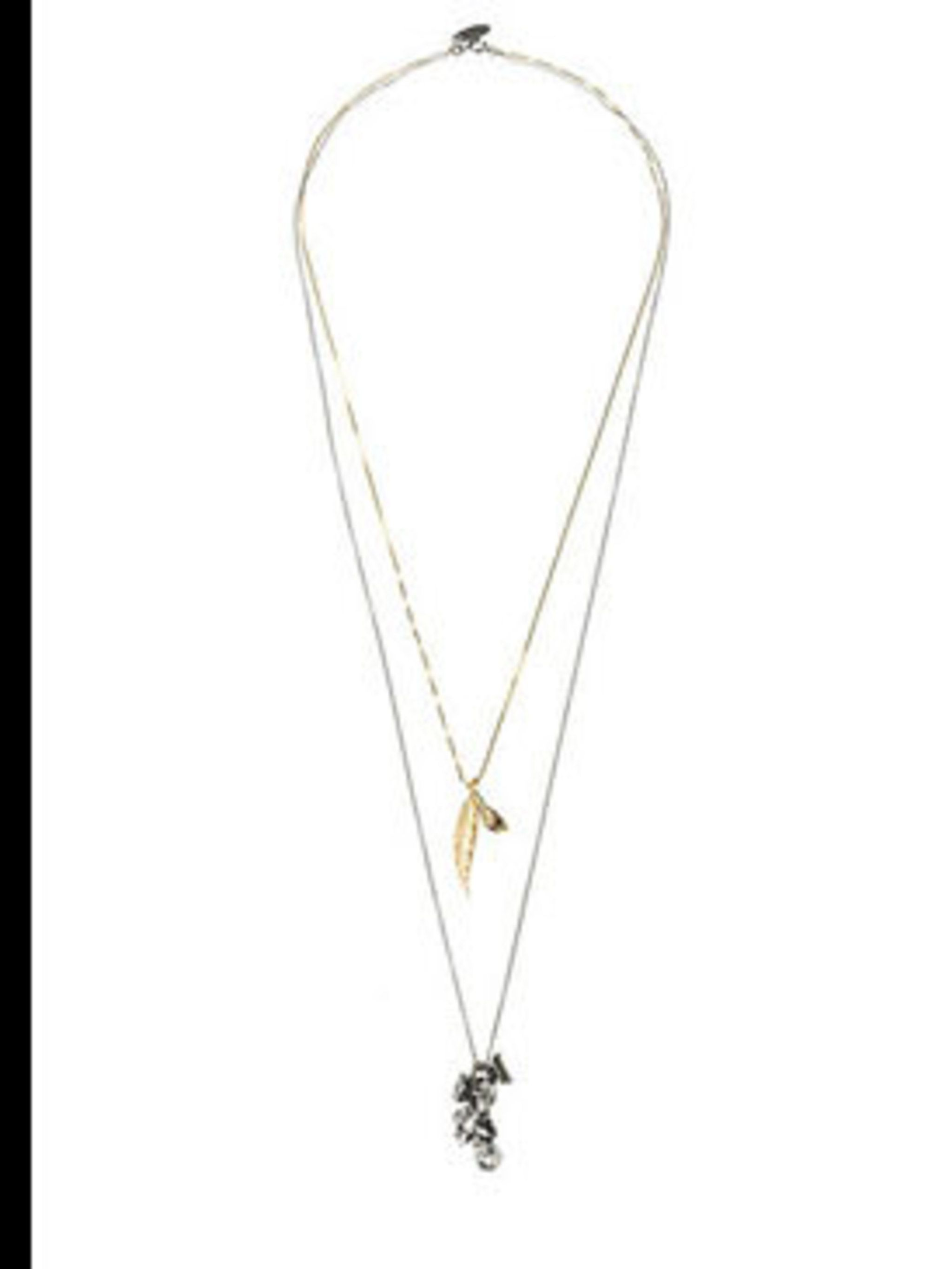 """<p>Double strand feather necklace, £166, by Iosselliani at <a href=""""http://www.lagarconne.com/store/item.htm?itemid=4309&amp&#x3B;sid=358&amp&#x3B;pid=204"""">La Garconne</a></p>"""