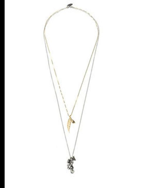 """<p>Double strand feather necklace, £166, by Iosselliani at <a href=""""http://www.lagarconne.com/store/item.htm?itemid=4309&amp;sid=358&amp;pid=204"""">La Garconne</a></p>"""