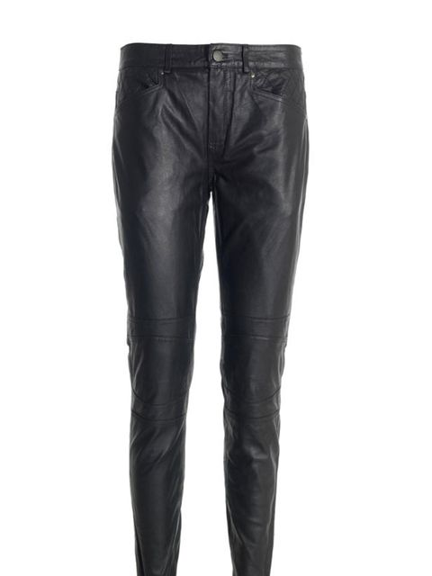 "<p><a href=""http://www.reissonline.com/shop/womens/1971_new_arrivals/gael/black/"">Reiss 1971</a> leather biker trousers, £250</p>"