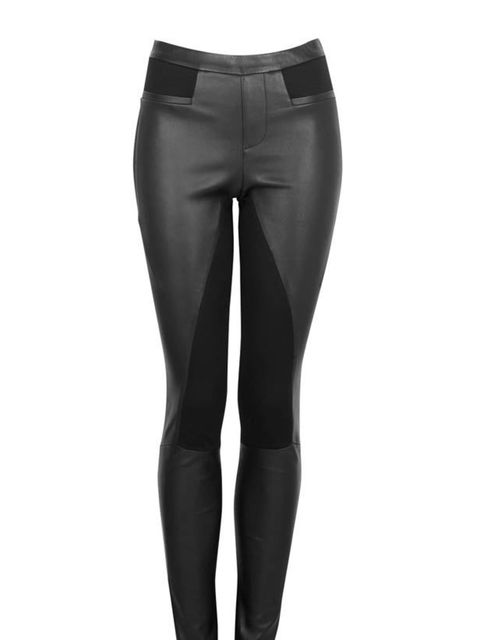 "<p>Helmut Lang leather panel trousers, £515, at <a href=""http://www.my-wardrobe.com/helmut-lang/stretch-leather-jsy-leggings-795733"">My-Wardrobe </a></p>"
