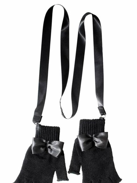 "<p>Fingerless gloves with satin straps, £45, by <a href=""http://www.bernstockspeirs.com/shop-category.aspx?2"">Bernstock Speirs</a></p>"
