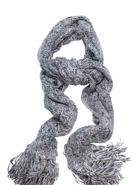 <p>Multi-coloured fringed scarf, £188, by Missoni at Matches </p>