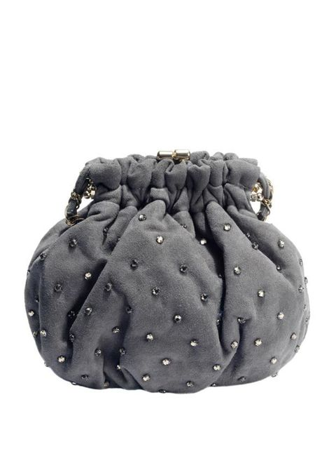 "<p>Embellished clutch, £110, by <a href=""http://www.reiss.co.uk/shop/womens/bags/alicia/silver_lavender/"">Reiss</a></p>"