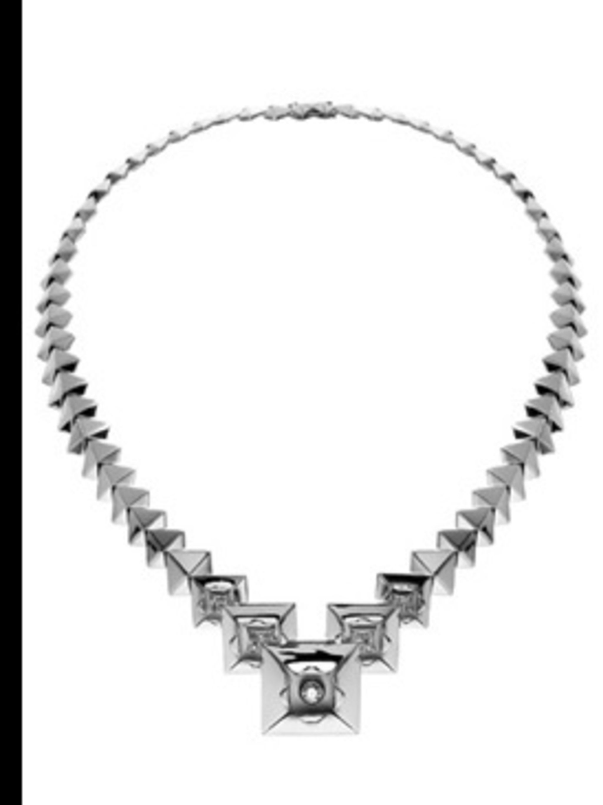 """<p>Necklace, £9,160.00 by Sho at <a href=""""http://www.kabiri.co.uk/jewellery/necklaces/graduated_origami_necklace"""">Kabiri</a></p>"""