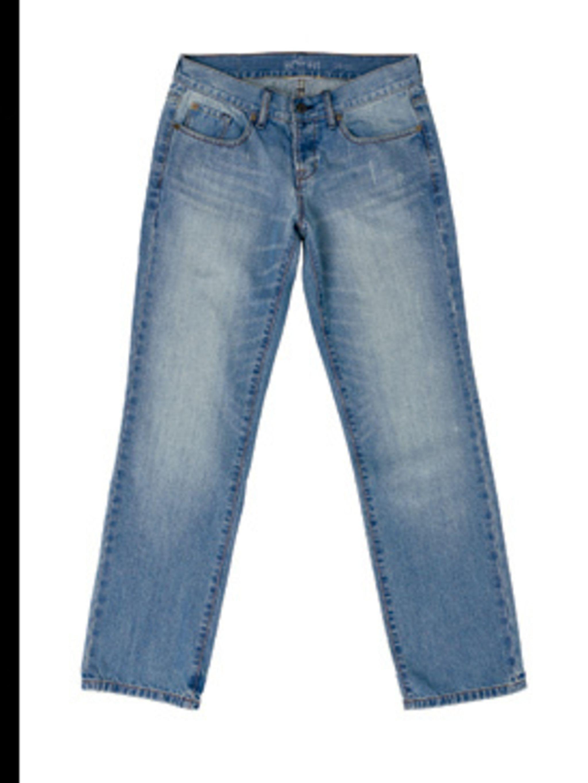 <p>Blue boyfriend jeans, £39.50, by Gap (0800 427 789)</p>
