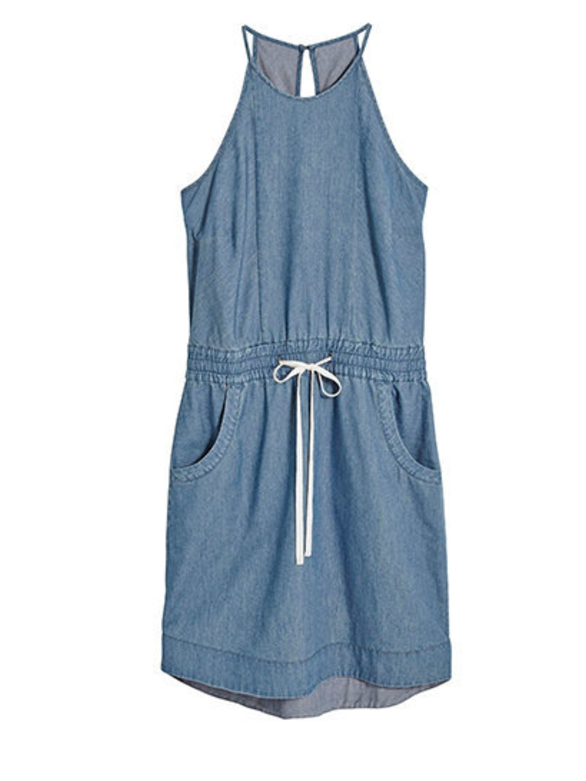 "<p>Racer denim dress, £32 from <a href=""http://www.next.co.uk/g6344s7"">Next</a>. </p>"