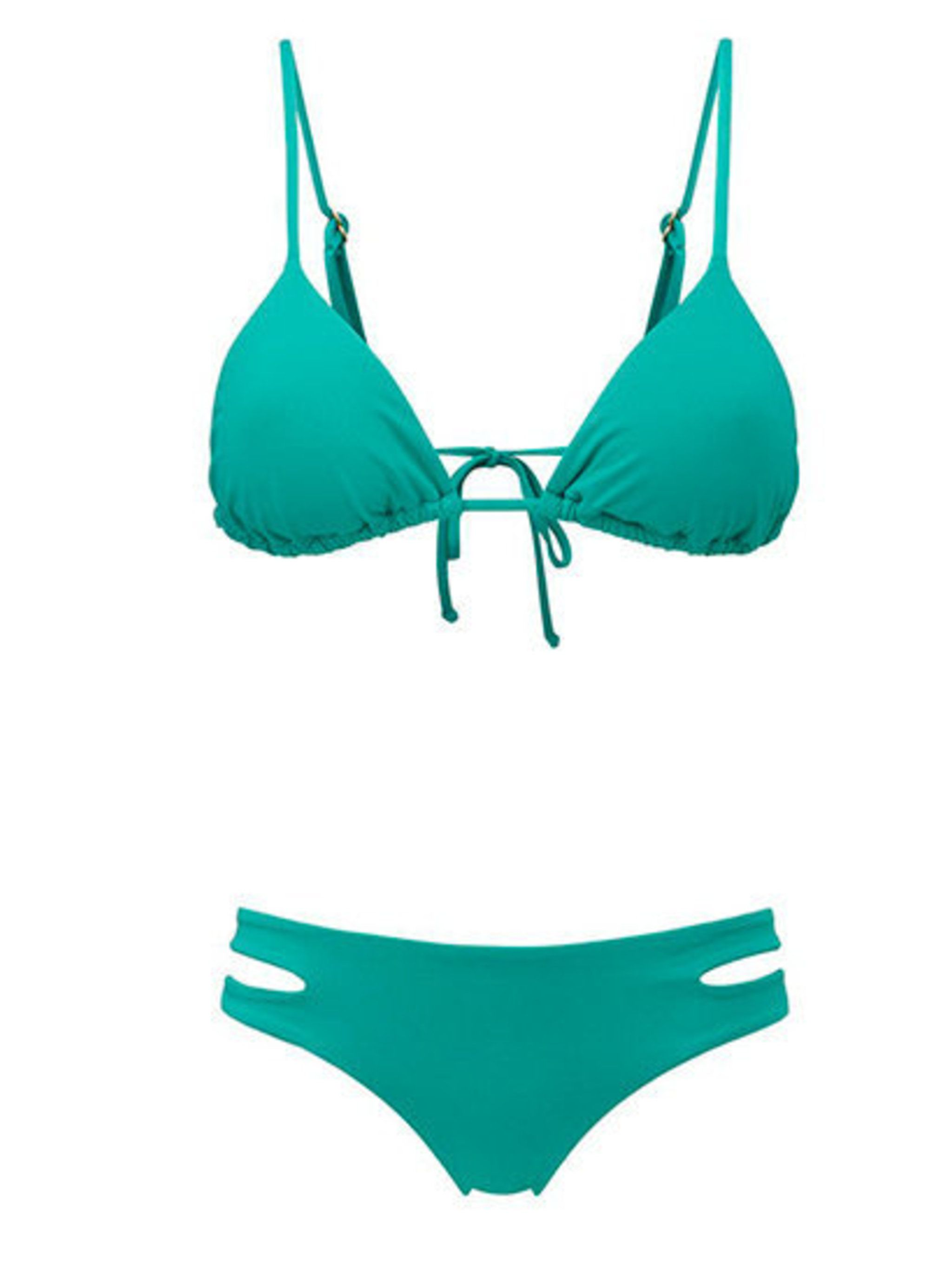 """<p>Keeping in with this season's pastel trend, Fashion Assistant Espe De La Fuente picks this Rigby and Peller <a href=""""http://www.rigbyandpeller.co.uk/l*space-sensual-solids-triangle-cup-bikini-top/p61144.aspx"""">bikini top</a>, £58.95 and cut away <a href"""